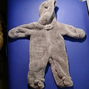 Carter's baby bear costume/ winter onesie snuggie